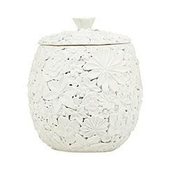 RJR.John Rocha - Designer cream floral storage pot