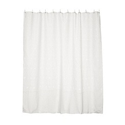 RJR.John Rocha - Designer white daisy burnout shower curtain