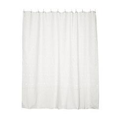 RJR.John Rocha - Designer white daisy burnout shower curtain