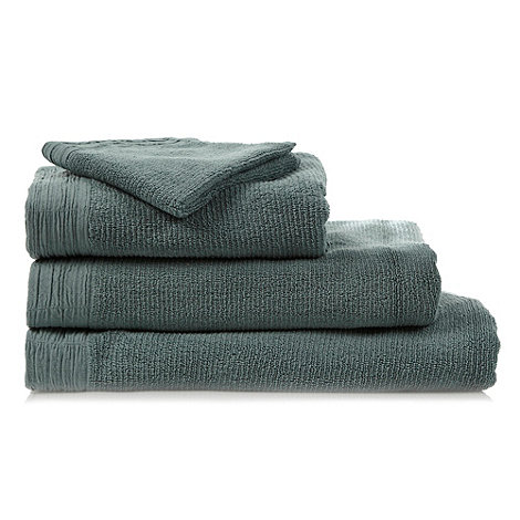 RJR.John Rocha - Pale green pleated hem cotton towels