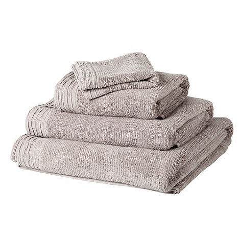 RJR.John Rocha - Brown pleated hem cotton towels