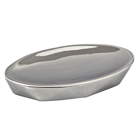 RJR.John Rocha - Silver faceted soap dish