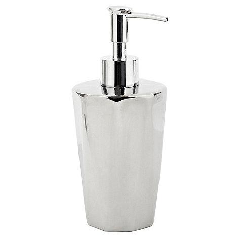 RJR.John Rocha - Silver faceted soap dispenser