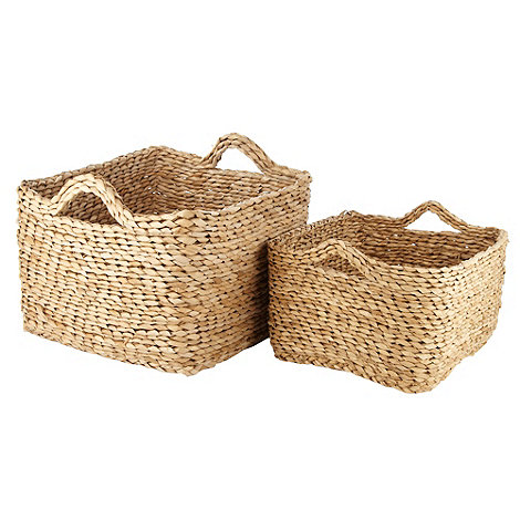 RJR.John Rocha - Set of two brown coiled baskets