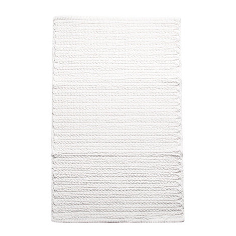 RJR.John Rocha - White chunky woven bath mat