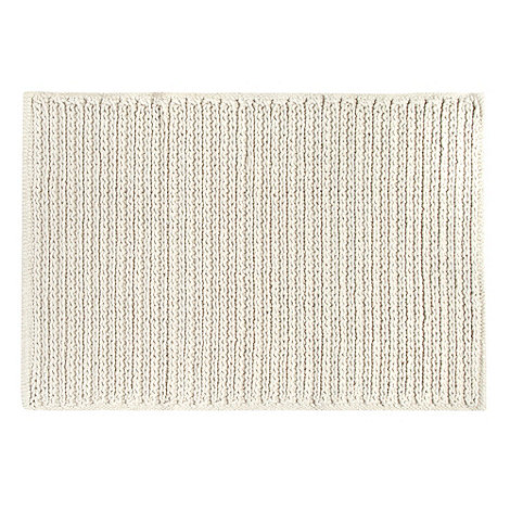 RJR.John Rocha - Cream textured cable knitted bath mat