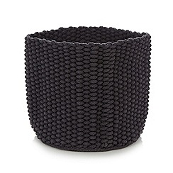 Betty Jackson.Black - Designer large woven basket
