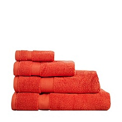 Betty Jackson.Black - Orange 'Supremely Soft' cotton towels