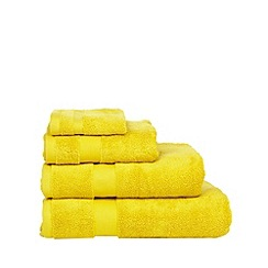 Betty Jackson.Black - Yellow 'Supremely Soft' cotton towels