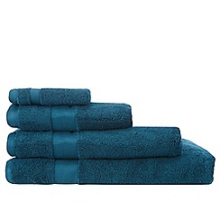 Betty Jackson.Black - Designer dark turquoise supremely soft towels