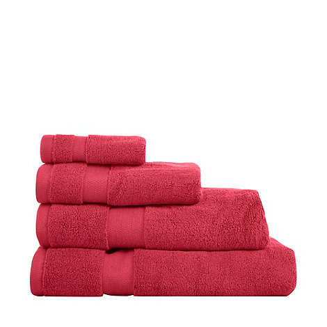 Betty Jackson.Black - Bright pink +Supremely Soft+ cotton towels