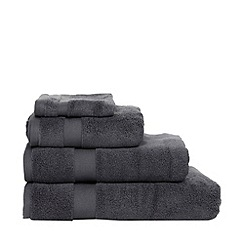 Betty Jackson.Black - Grey 'Supremely Soft' cotton towels