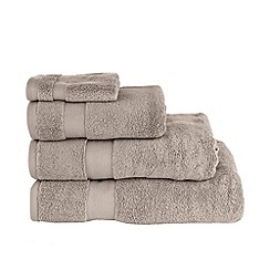 Betty Jackson.Black - Taupe 'Supremely Soft' cotton towels