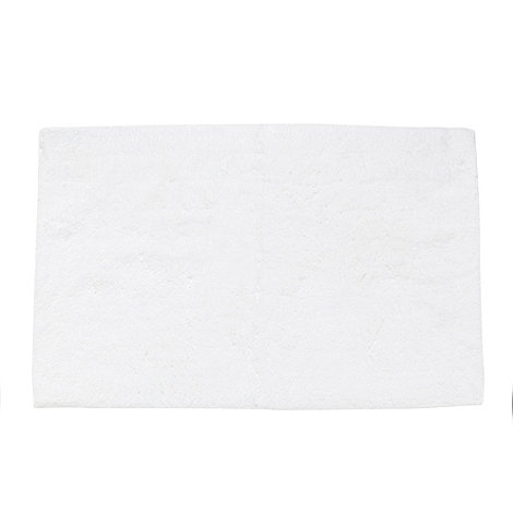 Betty Jackson.Black - White extra soft bath mat