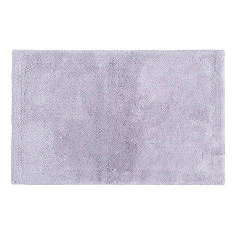 Betty Jackson.Black - Light purple luxury cotton bath mat