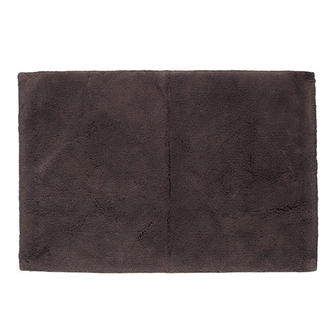 Betty Jackson.Black - Designer dark grey bath mat