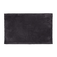 Betty Jackson.Black - Designer dark grey cotton bath mat