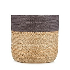 Betty Jackson.Black - Designer grey border medium basket