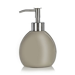 Betty Jackson.Black - Designer taupe resin soap dispenser
