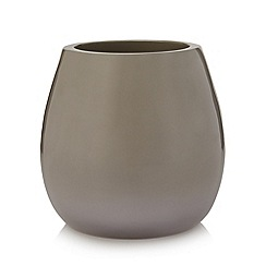 Betty Jackson.Black - Designer taupe resin toothbrush holder