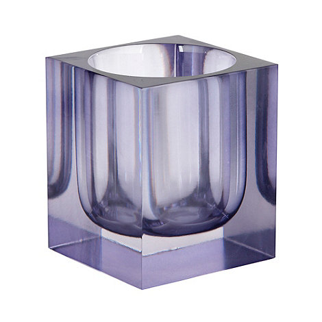 Betty Jackson.Black - Purple smoked resin tumbler
