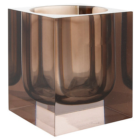 Betty Jackson.Black - Brown squared tumbler