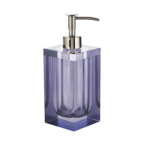 Betty Jackson.Black - Purple smoked resin soap dispenser