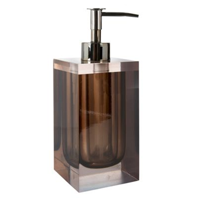Betty Jackson.Black Brown smoked resin soap dispenser - . -