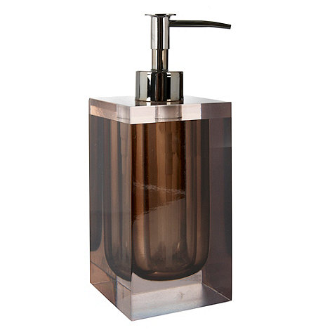 Betty Jackson.Black - Brown smoked resin soap dispenser