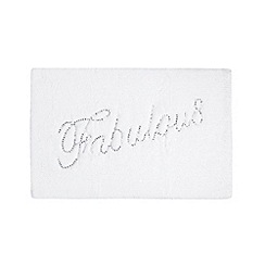 Star by Julien MacDonald - Designer white 'Fabulous' bath mat