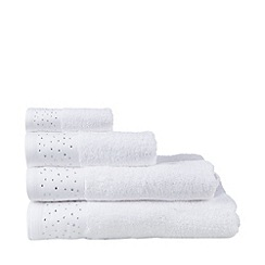Star by Julien Macdonald - White diamante embellished cotton towels