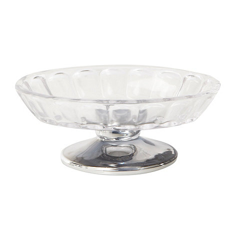 Star by Julien Macdonald - Silver scalloped glass soap dish