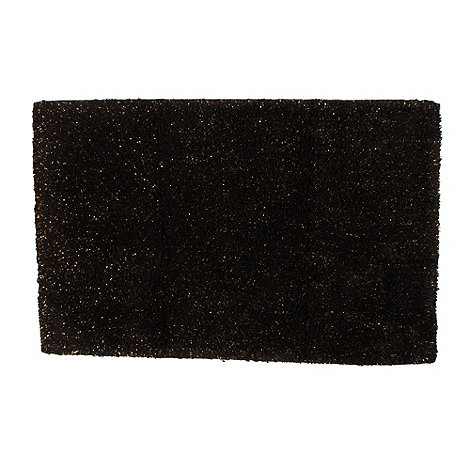 Star by Julien Macdonald - Designer black metallic bath mat