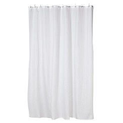 Star by Julien MacDonald - White diamante stone shower curtain