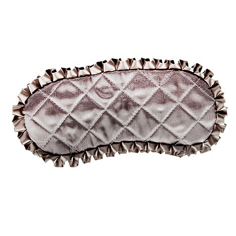 Star by Julien Macdonald - Silver quilted eye mask