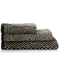 Star by Julien MacDonald - Black snakeskin printed cotton towels