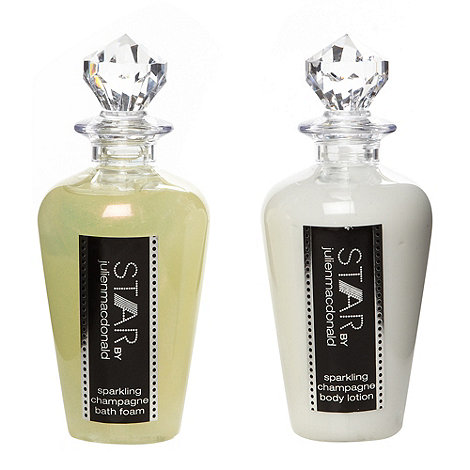 Star by Julien Macdonald - Designer sparkling champagne bath foam and body lotion