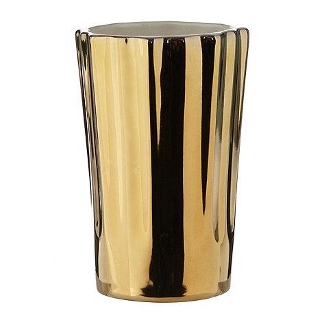 Star by Julien Macdonald - Designer gold grooved tumbler