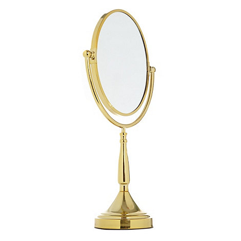 Star by Julien Macdonald - Designer metallic pedestal mirror