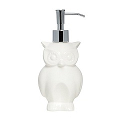 Ben de Lisi Home - Designer porcelain owl soap dispenser