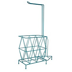 Ben de Lisi Home - Designer turquoise wire toilet roll holder and magazine rack