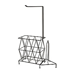 Ben de Lisi Home - Designer black wire toilet roll holder and magazine rack