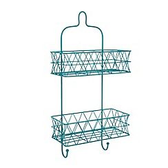 Ben de Lisi Home - Designer turquoise wire triangle two tier shower caddy