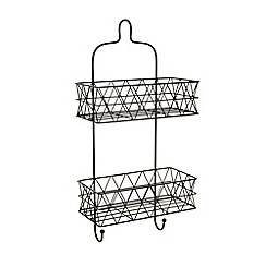 Ben de Lisi Home - Designer black wire triangle two tier shower caddy
