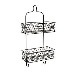Ben de Lisi Home - Designer black wire triangle two tier shower caddy