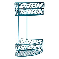 Ben de Lisi Home - Designer dark turquoise two tier wire shower shower caddy