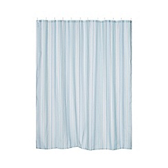 Ben de Lisi Home - Designer blue striped shower curtain