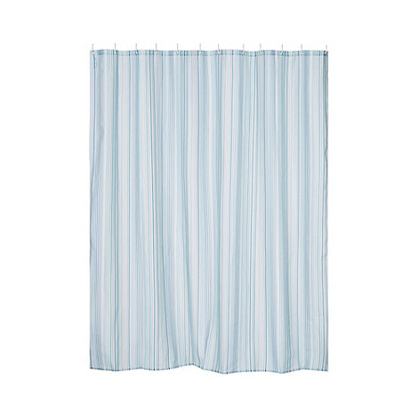 Ben De Lisi Home Designer Blue Striped Shower Curtain Debenhams