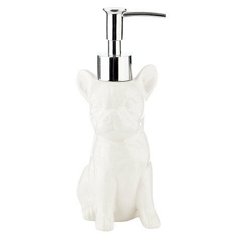 Ben de Lisi Home - White dog soap dispenser