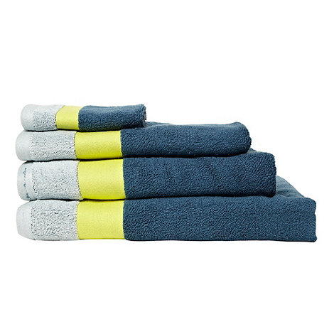 Ben de Lisi Home - Turquoise contrasting header cotton towels